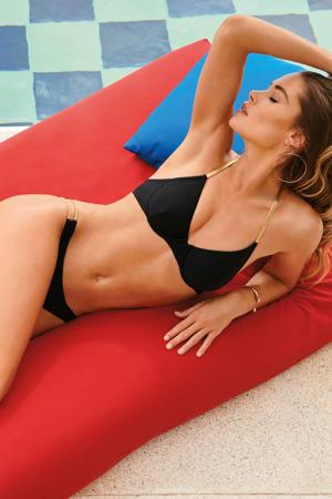 by Doutzen brazilian bikinibroekje Paradise zwart/goud