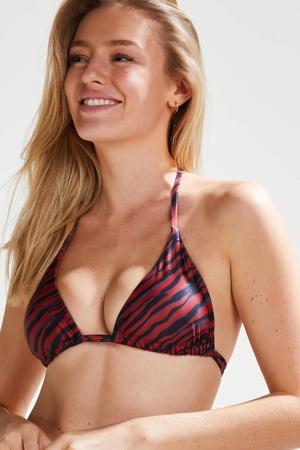 by Doutzen triangel bikinitop Malibu rood/antraciet