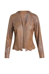 Cassis coated jasje met glitters cognac, Cognac
