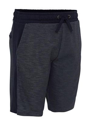 gemêleerde regular fit sweatshort donkerblauw