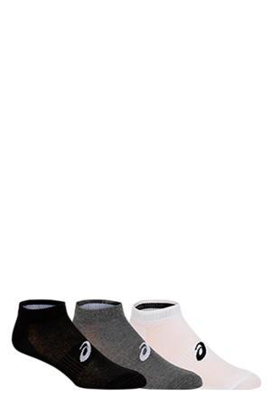 sportsokken zwart/wit/grijs