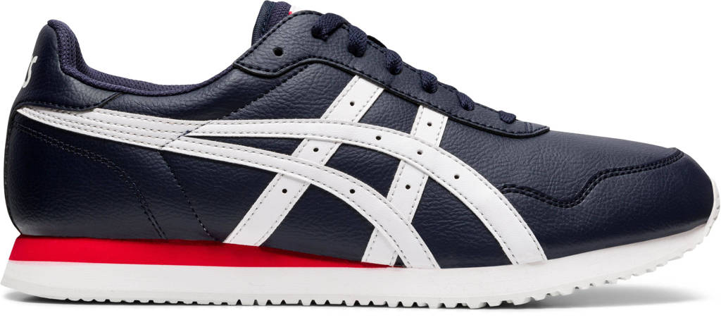 ASICS Tiger Runner  sneakers donkerblauw/rood/wit, Donkerblauw/wit