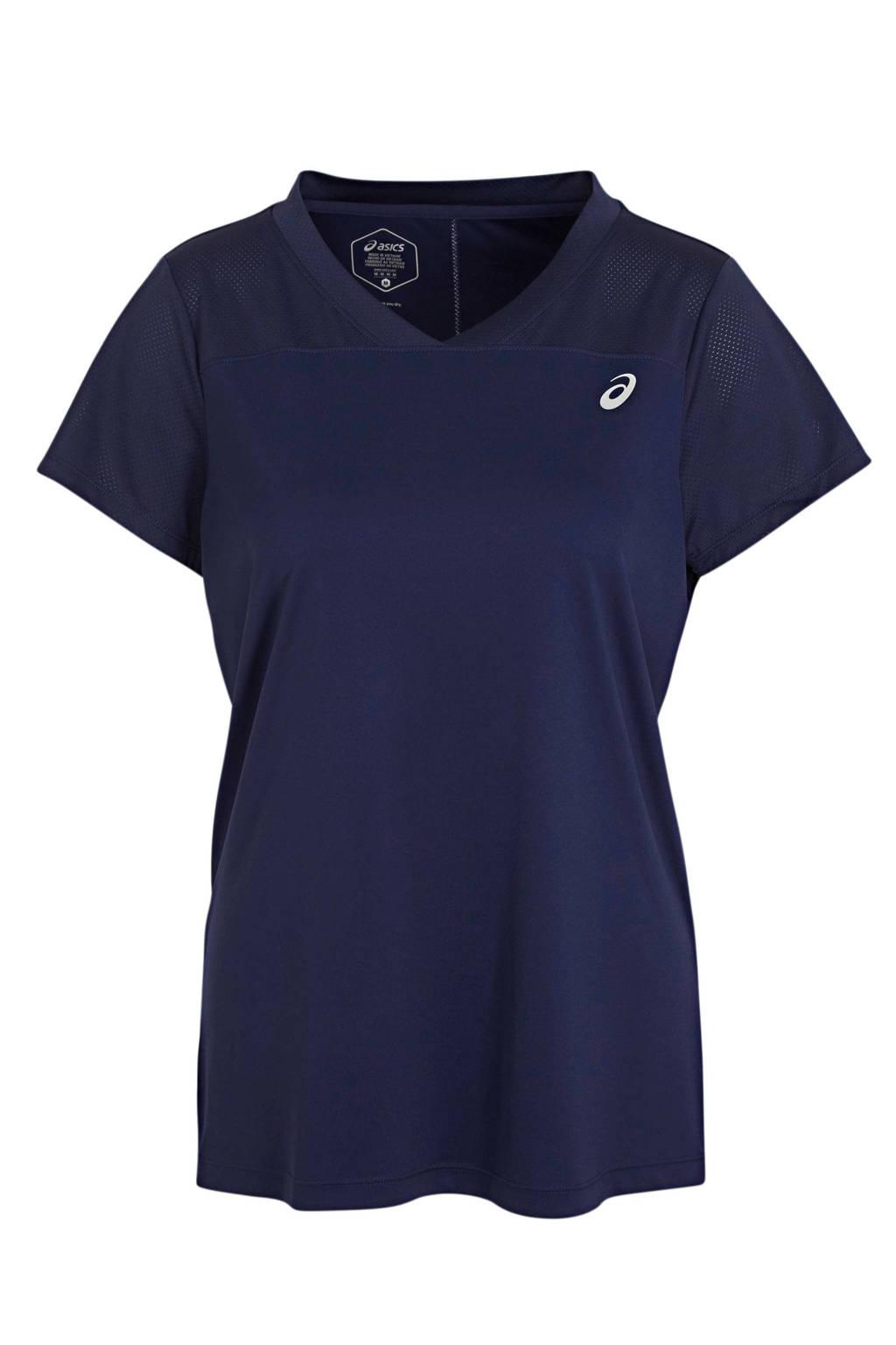 ASICS sport T-shirt donkerblauw, Donkerblauw