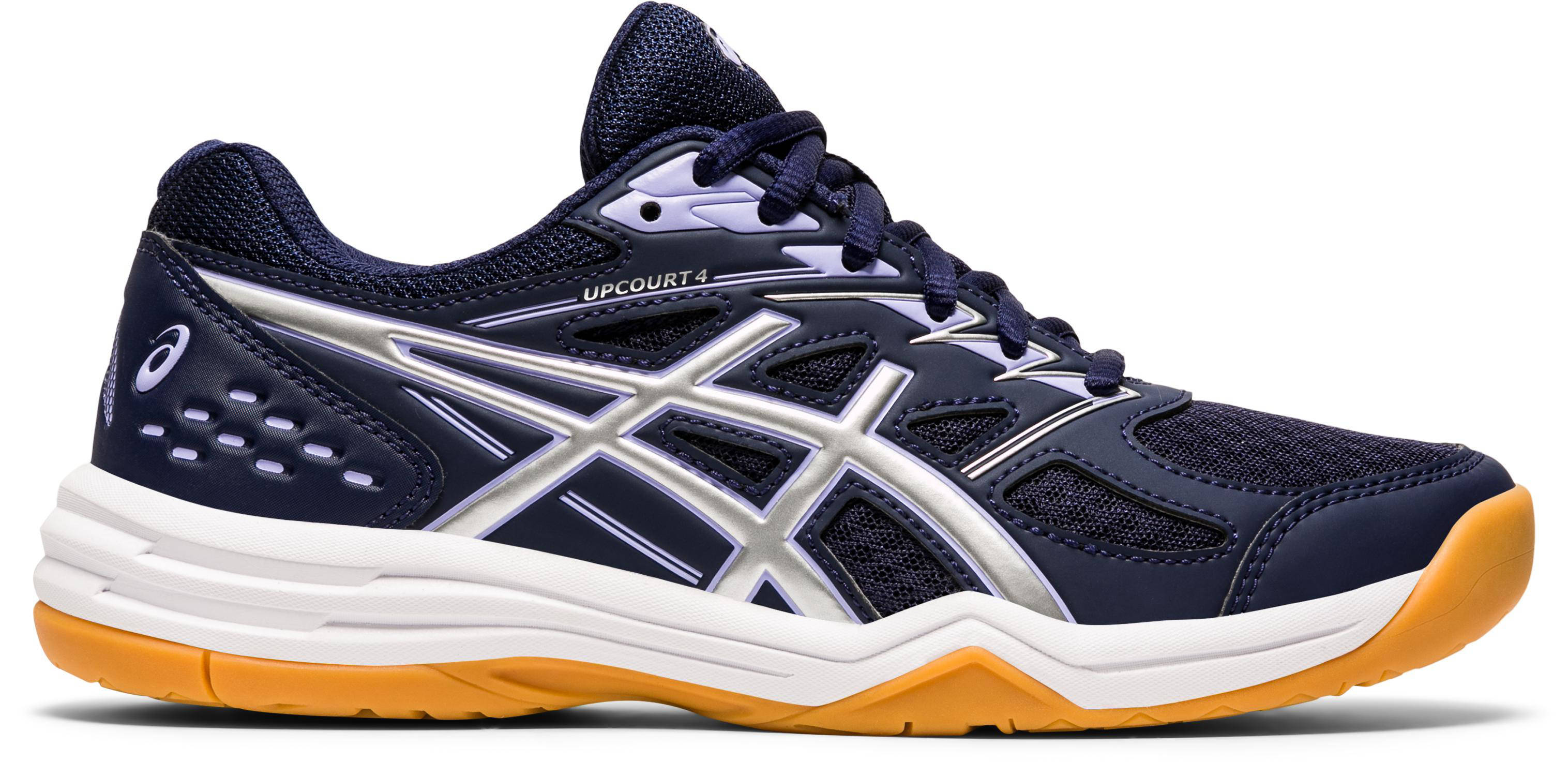 ASICS Schoenen voor badminton en indoor sporten dames Upcourt 4 marineblauw/lavendel online kopen