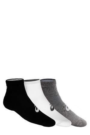 sportsokken (set van 3 paar) zwart/grijs/wit