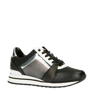 Billie Trainer  leren sneakers zwart/zilver