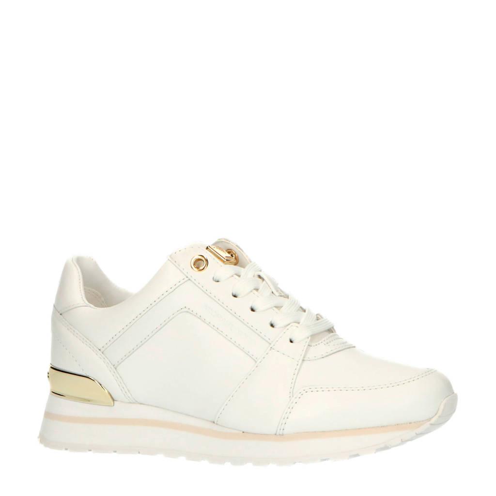 Michael Kors Billie Trainer  leren sneakers wit, Wit/goud