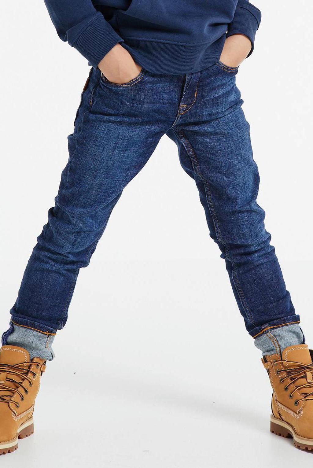 NAME IT KIDS slim fit jeans Theo met biologisch katoen dark denim, Dark denim