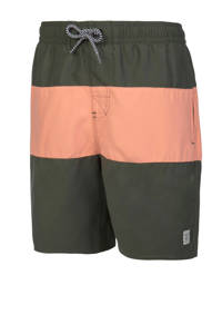 Protest zwemshort Beagle JR met all over print blauw, Thyme