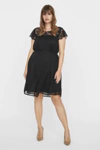 JUNAROSE jurk Carolina met kant zwart, Zwart