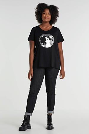 skinny fit legging zwart