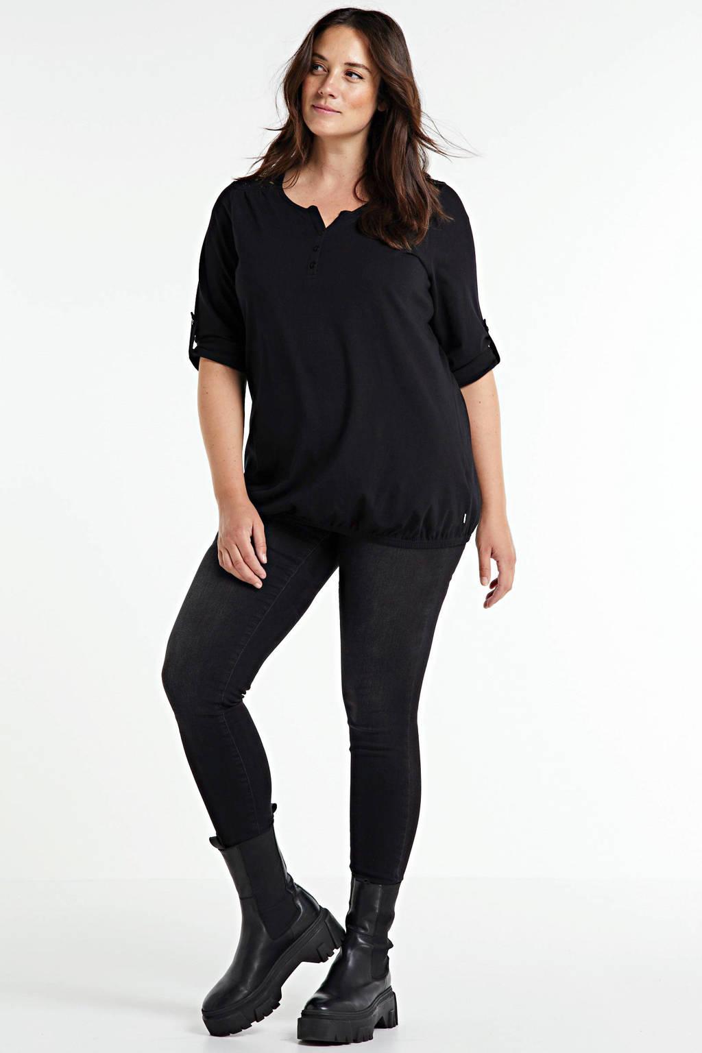 JUNAROSE skinny jeans Four donkergrijs, Donkergrijs