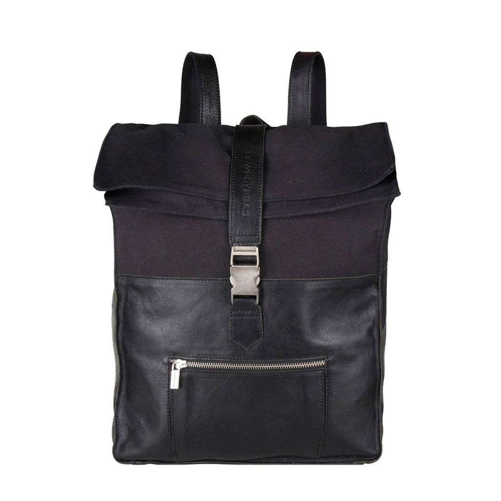 Cowboysbag  15.6 leren rugzak Hunter 15.6 inch zwart, Zwart