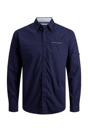 regular fit overhemd Matthew met all over print marine