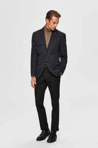 SELECTED HOMME slim fit colbert met all over print donkergrijs, Donkergrijs