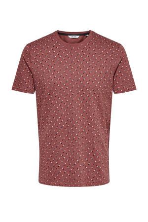 T-shirt van biologisch katoen oudroze
