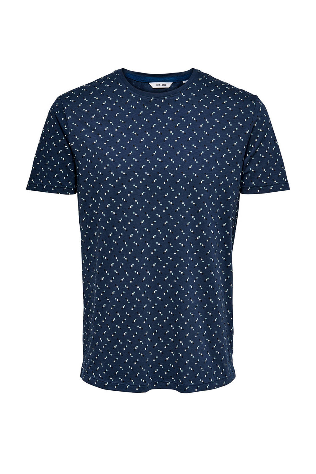 ONLY & SONS T-shirt van biologisch katoen marine, Marine