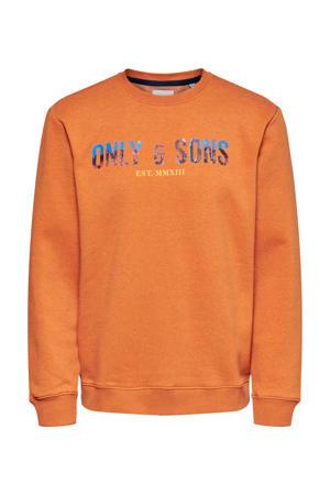 sweater met biologisch katoen oranje