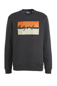 ONLY & SONS sweater met printopdruk zwart, Zwart