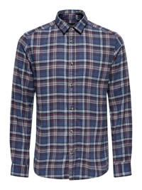 ONLY & SONS PLUS geruit slim fit overhemd blauw, Blauw