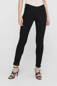 JACQUELINE DE YONG skinny jeans JDYNEWNIKKI black denim, Zwart