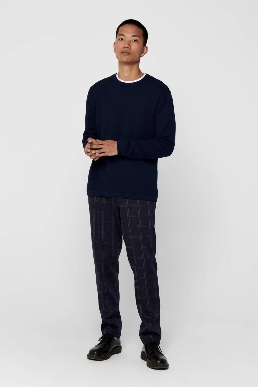 ONLY & SONS fijngebreide trui donkerblauw, Donkerblauw