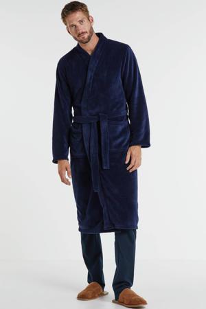 fleece badjas donkerblauw