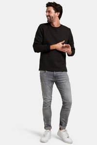 Refill by Shoeby sweater Archie met all over print camel/zwart, Camel/zwart