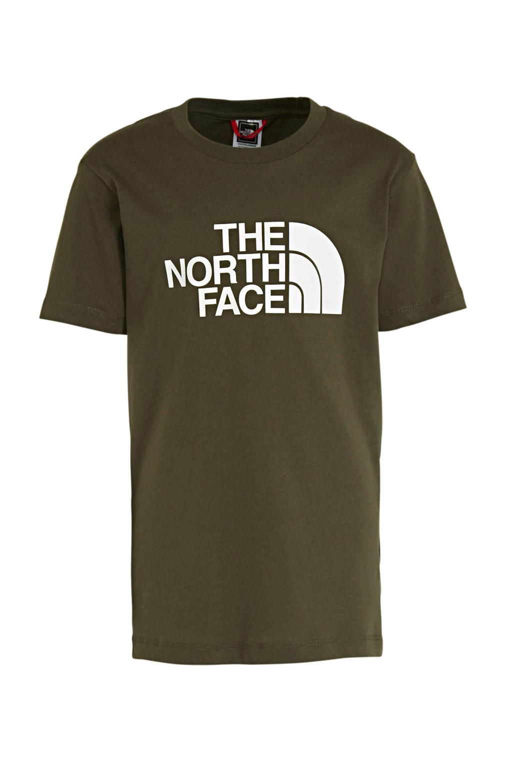 The North Face T-shirt grijs/wit, kaki/wit