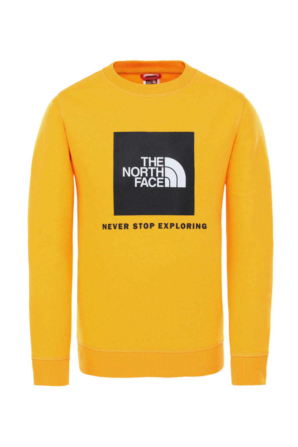 The North Face sweater geel, Geel