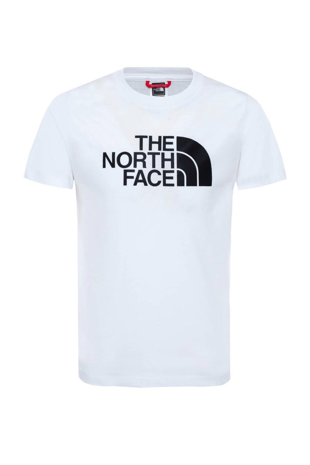 The North Face T-shirt wit/zwart, Wit/zwart