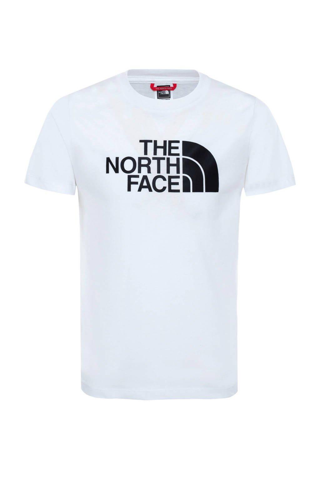 The North Face unisex T-shirt Easy wit/zwart, Wit/zwart