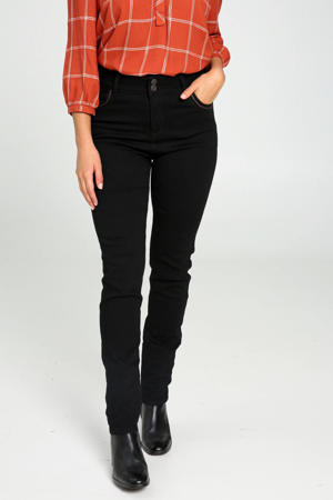 slim fit jeans zwart/zilver