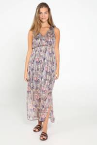 Cassis semi-transparante maxi jurk met all over print violet, Violet