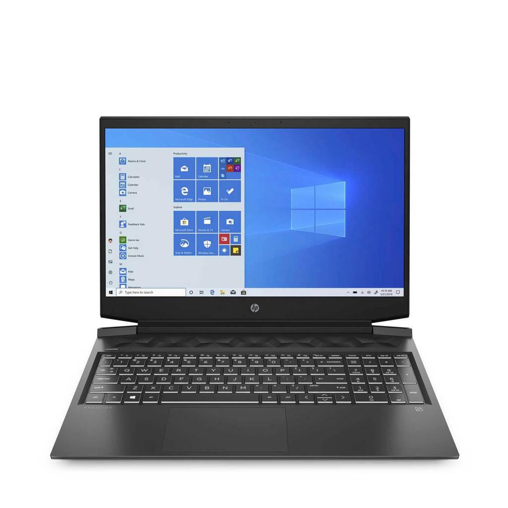 HP 16-A0170ND 16.1 inch Full HD laptop, Zwart, Chroom