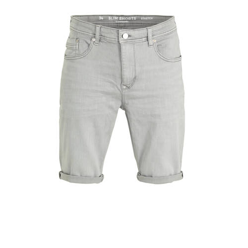 C&A Clockhouse slim fit jeans short lichtgrijs