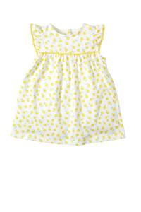 C&A Baby Club jurk met vaste romper ecru/geel, Ecru/geel