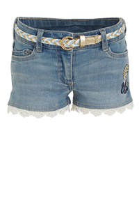 C&A Disney Frozen jeans short met borduursels light denim, Light denim