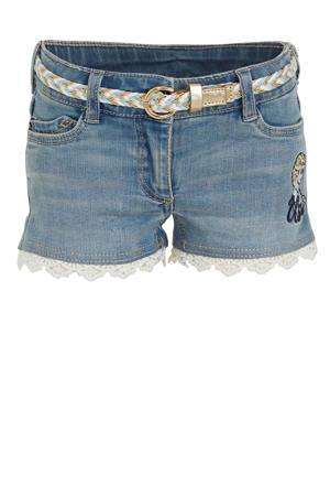Disney Frozen jeans short met borduursels light denim