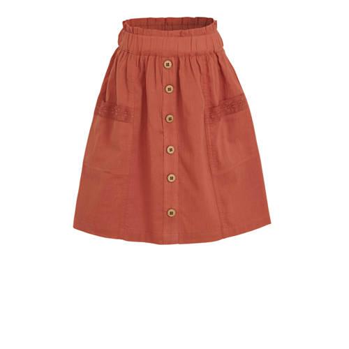 C&A Palomino rok met kant roodbruin