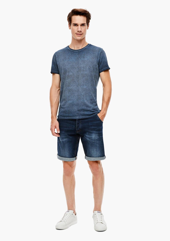 Q/S designed by T-shirt blauw, Blauw
