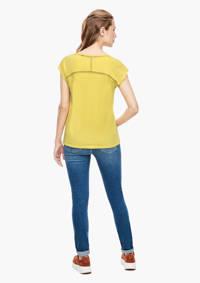 s.Oliver gehaakt T-shirt met open detail geel, Geel