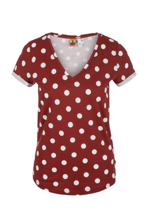T-shirt met stippen rood/wit