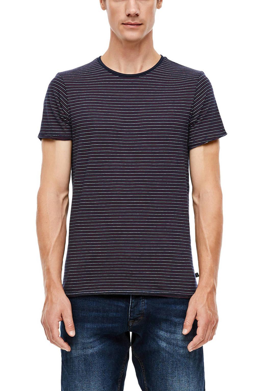 Q/S designed by gestreept T-shirt blauw/wit, Blauw/wit