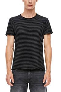 Q/S designed by gestreept T-shirt zwart/wit, Zwart/wit