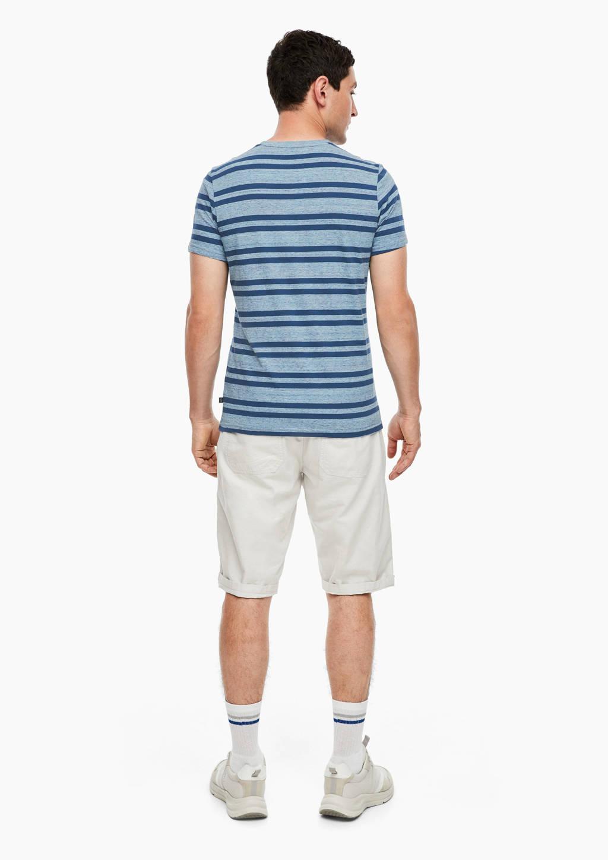 Q/S designed by gestreept T-shirt blauw, Blauw