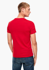 Q/S designed by T-shirt met printopdruk rood, Rood