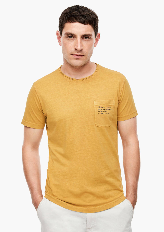 s.Oliver T-shirt met tekst geel, Geel