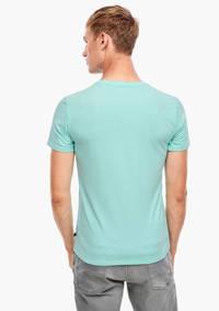 Q/S designed by T-shirt met printopdruk turqoise, Turqoise