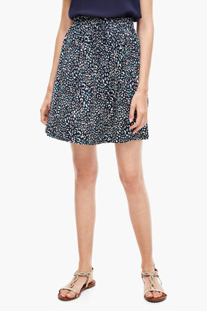 rok met all over print blauw/wit
